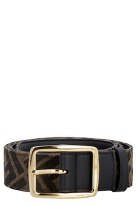 Cintura in tela con logo all-over, Cinture Fendi man