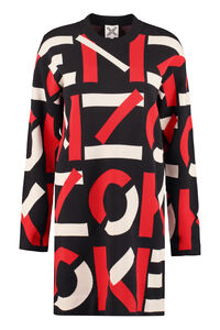 Jacquard knit mini-dress, Mini dresses Kenzo woman