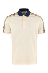 Short-sleeved cotton polo shirt, Short sleeve polo shirts Gucci man