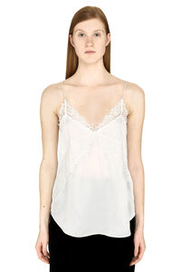 Branda lace trim silk top, Tanks and Camis Iro woman