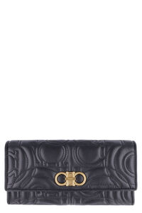 Quilted flap-over leather wallet, Wallets Salvatore Ferragamo woman