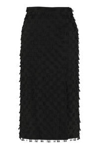 Fringed pencil skirt, Knee Length skirts MSGM woman