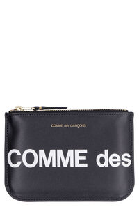 Huge leather flat pouch, Clutch Comme des Garçons Wallet woman