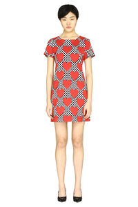 Patterned cotton dress, Mini dresses Love Moschino woman