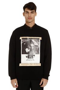 Printed cotton sweatshirt, Sweatshirts Burberry man
