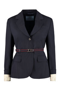 Virgin wool blazer, Blazers Prada woman