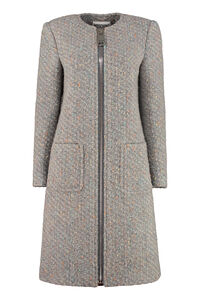 Boucle knit coat, Knee Lenght Coats Moschino woman