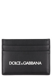 Smooth leather card holder, Wallets Dolce & Gabbana man