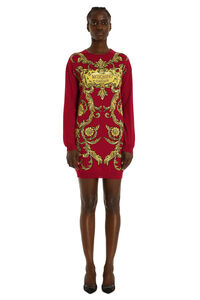 Intarsia knit-dress, Mini dresses Moschino woman