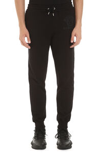 Stretch cotton track-pants, Track Pants Versace man