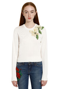 Embroidered crew-neck sweater, Crew neck sweaters Dolce & Gabbana woman