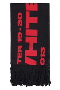 Logo knitted scarf, Scarves Off-White man
