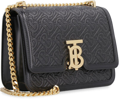 TB quilted leather shoulder bag