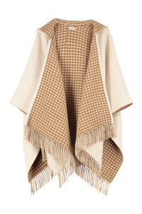 Wool and cashmere blend poncho, Capes Fendi woman
