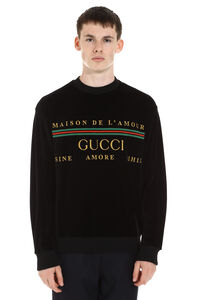 Embroidered chenille sweatshirt, Sweatshirts Gucci man