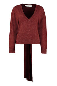 Wool blend V-neck sweater, V neck sweaters Iro woman