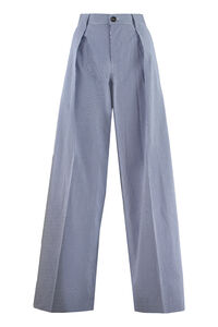 Cotton wide leg trousers, Wide leg pants Dsquared2 woman
