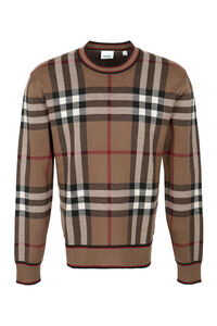 Merino wool crew-neck sweater, Crew necks sweaters Burberry man