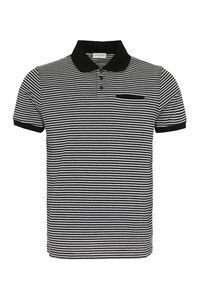 Striped cotton polo shirt, Short sleeve polo shirts Saint Laurent man