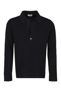 Long-sleeve polo shirt, Long sleeve polo shirts Bottega Veneta man