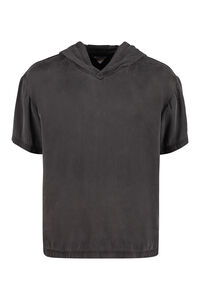 Hooded silk T-shirt, Short sleeve t-shirts Bottega Veneta man