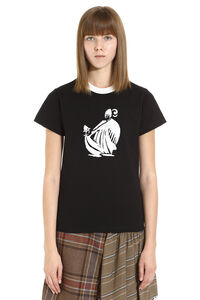 T-shirt in cotone con stampa, T-shirt Lanvin woman