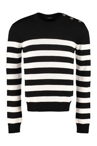 Long sleeve crew-neck sweater, Crew necks sweaters Balmain man