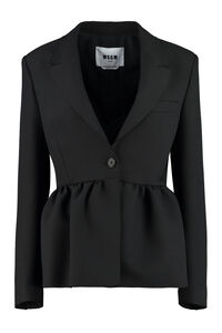 Ruffled jacket, Blazers MSGM woman