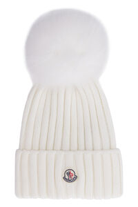 Wool hat with pom-pom, Hats Moncler woman