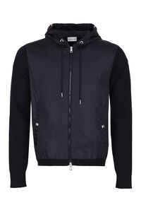 Cardigan with nylon panel, Cardigans Moncler man