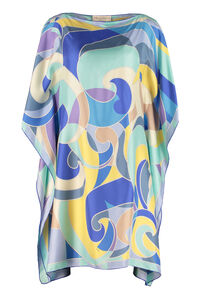 Printed silk kaftan, Mini dresses Emilio Pucci woman