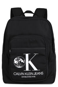 Printed techno canvas backpack, Backpack CALVIN KLEIN JEANS EST. 1978 man