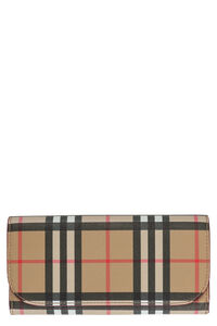Printed leather wallet, Wallets Burberry woman