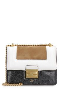 Kan U leather and suede crossbody bag, Shoulderbag Fendi woman