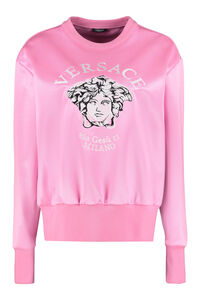 Embroidered crew-nek sweatshirt, Sweatshirts Versace woman