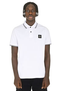 Cotton piqué polo shirt, Short sleeve polo shirts Stone Island man