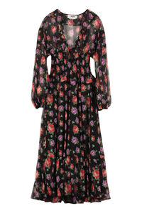 Floral print georgette dress, Printed dresses MSGM woman