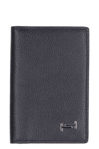 Pebbled leather card holder, Wallets Tod's man