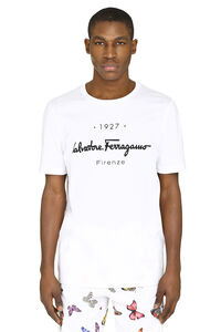 Printed cotton t-shirt, Short sleeve t-shirts Salvatore Ferragamo man