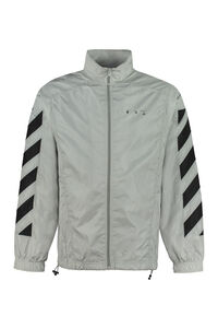 Techno fabric full-zip sweatshirt, Zip through Off-White man