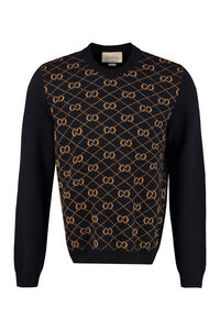 Wool crew-neck pullover, Crew necks sweaters Gucci man