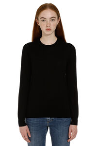 Crew-neck wool sweater, Crew neck sweaters Burberry woman