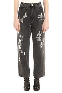 Deja Vu 5-pocket jeans, Cropped Jeans Pinko woman
