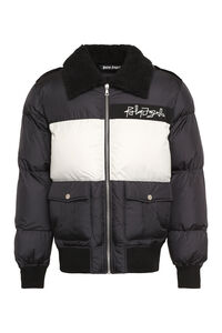 Faux fur collar down jacket, Down jackets Palm Angels man