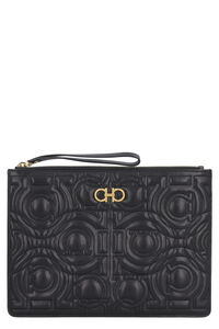 Gancini leather clutch, Clutch Salvatore Ferragamo woman