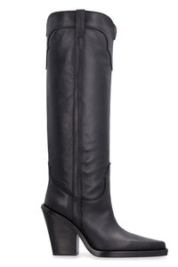 Thigh-length leather hose boots, Over-the-knee Boots Paris Texas woman
