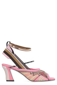 Embroidered mesh sandals, Mid Heels sandals Fendi woman