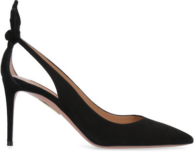 Deneuve suede ponty-toe pumps