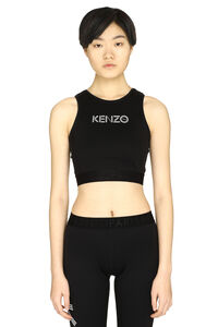 Cotton crop-top with logo, Crop tops Kenzo woman