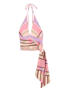 Printed cotton top, Crop tops Emilio Pucci woman